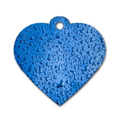 Water Drops On Car Dog Tag Heart (Two Sides)