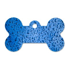 Water Drops On Car Dog Tag Bone (Two Sides)
