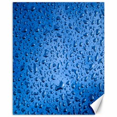 Water Drops On Car Canvas 11  x 14