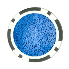 Water Drops On Car Poker Chip Card Guard