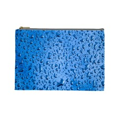 Water Drops On Car Cosmetic Bag (Large)