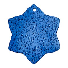 Water Drops On Car Snowflake Ornament (two Sides)