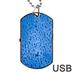 Water Drops On Car Dog Tag USB Flash (Two Sides)