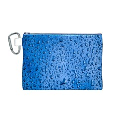 Water Drops On Car Canvas Cosmetic Bag (m)