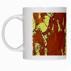 Cartoon Grunge Cat Wallpaper Background White Mugs