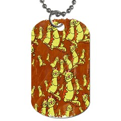 Cartoon Grunge Cat Wallpaper Background Dog Tag (Two Sides)