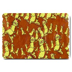 Cartoon Grunge Cat Wallpaper Background Large Doormat