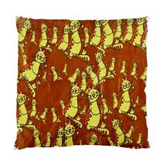 Cartoon Grunge Cat Wallpaper Background Standard Cushion Case (One Side)