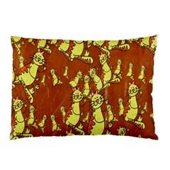 Cartoon Grunge Cat Wallpaper Background Pillow Case