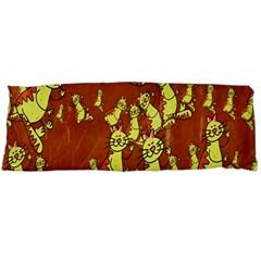 Cartoon Grunge Cat Wallpaper Background Body Pillow Case (dakimakura)