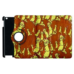 Cartoon Grunge Cat Wallpaper Background Apple Ipad 2 Flip 360 Case