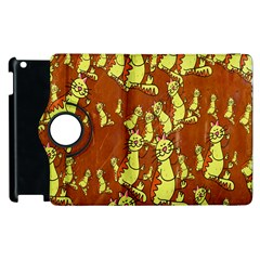 Cartoon Grunge Cat Wallpaper Background Apple iPad 3/4 Flip 360 Case