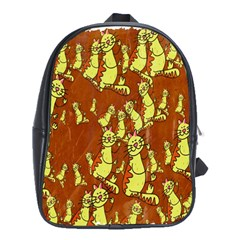 Cartoon Grunge Cat Wallpaper Background School Bags (xl)