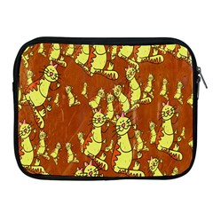 Cartoon Grunge Cat Wallpaper Background Apple iPad 2/3/4 Zipper Cases