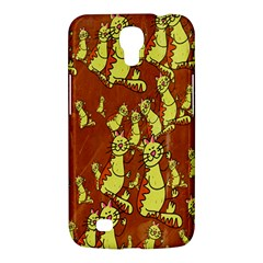 Cartoon Grunge Cat Wallpaper Background Samsung Galaxy Mega 6.3  I9200 Hardshell Case