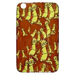 Cartoon Grunge Cat Wallpaper Background Samsung Galaxy Tab 3 (8 ) T3100 Hardshell Case