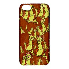 Cartoon Grunge Cat Wallpaper Background Apple iPhone 5C Hardshell Case