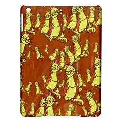 Cartoon Grunge Cat Wallpaper Background iPad Air Hardshell Cases