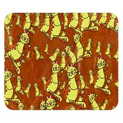 Cartoon Grunge Cat Wallpaper Background Double Sided Flano Blanket (Small)