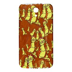 Cartoon Grunge Cat Wallpaper Background Samsung Galaxy Mega I9200 Hardshell Back Case