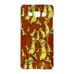 Cartoon Grunge Cat Wallpaper Background Samsung Galaxy A5 Hardshell Case