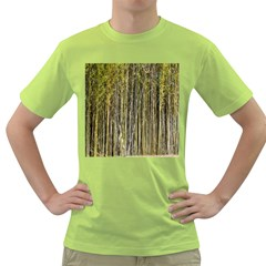 Bamboo Trees Background Green T Shirt