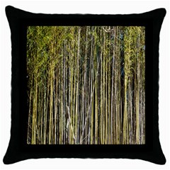 Bamboo Trees Background Throw Pillow Case (Black)