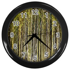 Bamboo Trees Background Wall Clocks (Black)