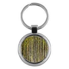 Bamboo Trees Background Key Chains (Round)