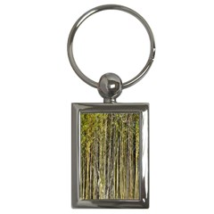 Bamboo Trees Background Key Chains (rectangle)