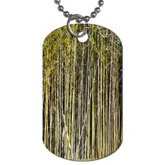 Bamboo Trees Background Dog Tag (One Side)