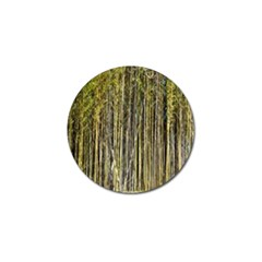Bamboo Trees Background Golf Ball Marker