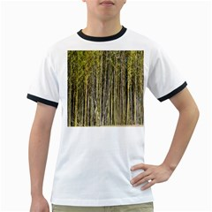 Bamboo Trees Background Ringer T-Shirts