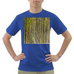 Bamboo Trees Background Dark T Shirt
