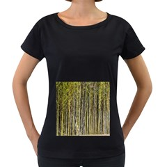 Bamboo Trees Background Women s Loose-Fit T-Shirt (Black)