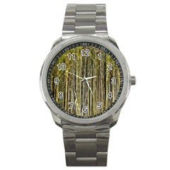 Bamboo Trees Background Sport Metal Watch