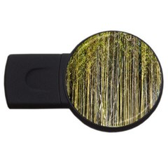 Bamboo Trees Background USB Flash Drive Round (4 GB)