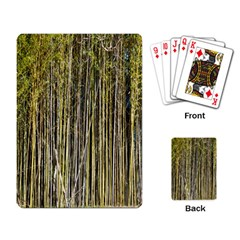 Bamboo Trees Background Playing Card