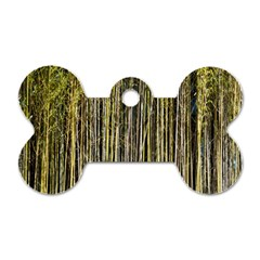 Bamboo Trees Background Dog Tag Bone (Two Sides)