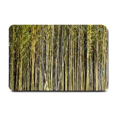 Bamboo Trees Background Small Doormat
