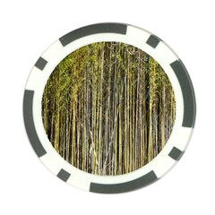 Bamboo Trees Background Poker Chip Card Guard
