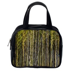 Bamboo Trees Background Classic Handbags (one Side)