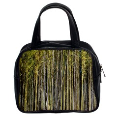 Bamboo Trees Background Classic Handbags (2 Sides)