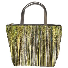 Bamboo Trees Background Bucket Bags