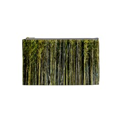Bamboo Trees Background Cosmetic Bag (small)