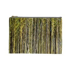 Bamboo Trees Background Cosmetic Bag (Large)