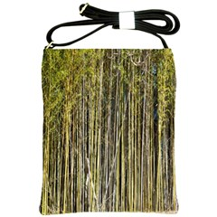 Bamboo Trees Background Shoulder Sling Bags