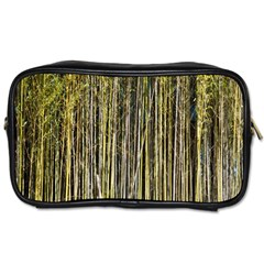Bamboo Trees Background Toiletries Bags 2 Side