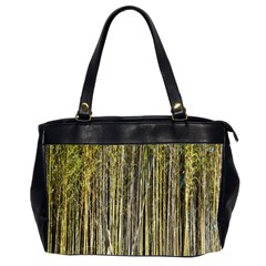 Bamboo Trees Background Office Handbags (2 Sides)