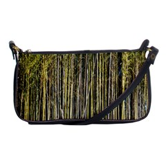 Bamboo Trees Background Shoulder Clutch Bags